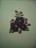 Black Embossing powder colored dark