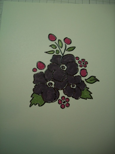 Black Embossing powder colored dark